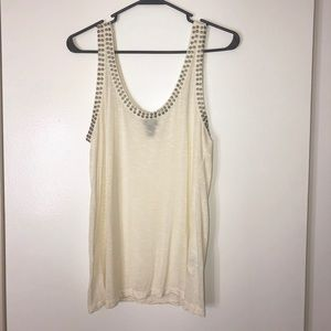 H&M white studded tank top